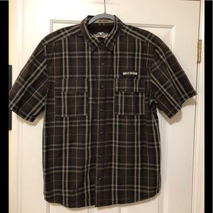 Harley Davidson authentic designer button shirt L